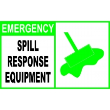 Emergency Sign - Spill Response Equipment