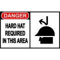 Danger Sign - Hard Hat Required In This Area