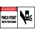 Danger Sign - Pinch Point Watch Your Hands