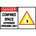 Danger Sign - Confined Space Authorized Personnel Only