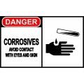 Danger Sign - Corrosives Avoid Contact With Eyes And Skin
