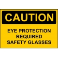 Caution Sign - Eye Protection Required Safety Glasses