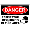 Danger Sign - Respirator Required In This Area