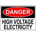 Danger Sign - High Voltage Electricity
