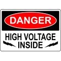 Danger Sign - High Voltage Inside