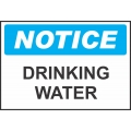 Notice Sign - Drinking Water