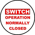 PMP-106 Switch Closed Sticker