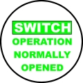 PMP-107 Switch Open Sticker