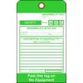 PMP-535 Safety Abnormality Tag