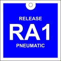 Release Pneumatic Tag (RA): Square