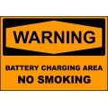 Warning Sign - Battery Charging Area No Smoking