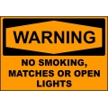 Warning Sign - No Smoking Matches Or Open Lights